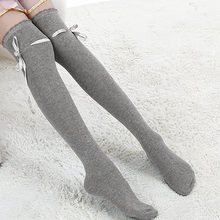 Fashion autumn winter Stocking Women New Over Knee Thigh High Cotton Stocking Long Knittd Boot Hosiery Women Casual funny(China)