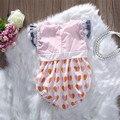 Roupas Desgaste do bebê Meninas Bodysuit Fantasia Sem Mangas de Renda New Arriva Floral Sunsuit Bodysuit Macacão de Renda Da Menina Da Criança Infantil Do Bebê