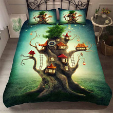 Bedding Set 3D Printed Duvet Cover Bed Set Sea Fantasy fairy forest Home Textiles for Adults Bedclothes with Pillowcase #MJSL04 шторы тканевые seven fairy home textiles 6036 5