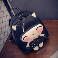 PACGOTH Students Backpack Kawaii PU Leather Backpack Trendy Fashion Schoolbags Cartoon Printing Kawaii Girls Backpacks 1