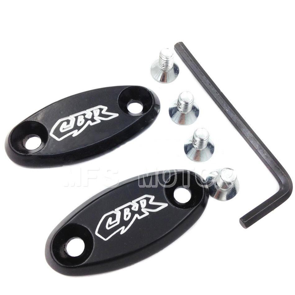 MFS MOTOR Mirror Block Off base Plates for Hond CBR 600 F4 F4i 900 RR 929 954 1000RR BLK Motorcycle Part