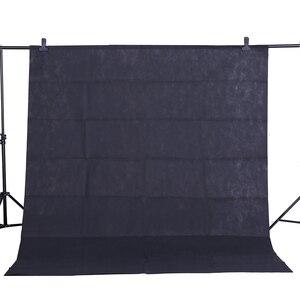 Image 1 - CY ホット販売写真の背景の布 1.6*3 メートル/5 * 10FT 黒写真スタジオ不織布背景の背景画面撮影肖像画