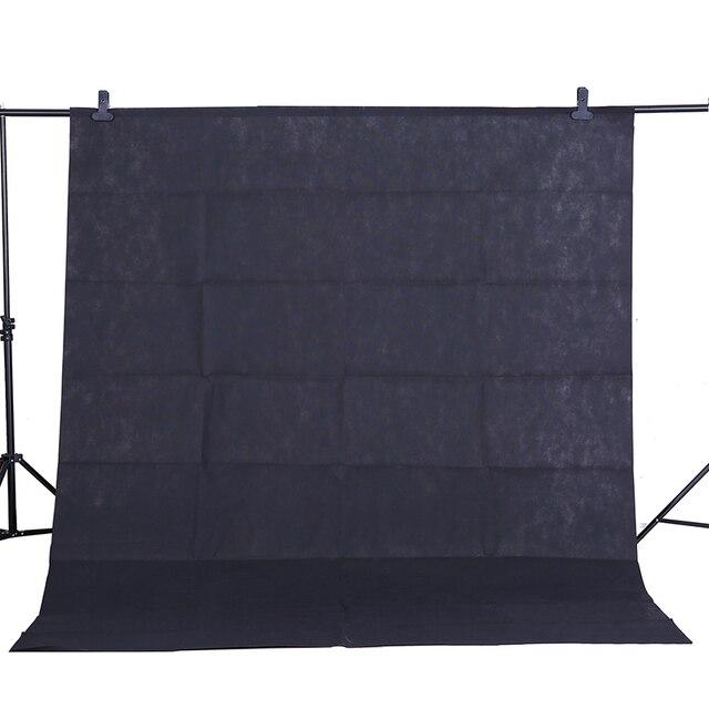 CY Heißer verkauf Foto hintergrund tuch 1,6*3 mt/5 * 10FT Schwarz Fotografie Studio Non woven hintergrund Hintergrund Bildschirm schießen porträt