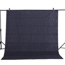 CY Hot koop Foto achtergrond doek 1.6*3 m/5 * 10FT Zwart Fotografie Studio non woven achtergrond Screen schieten portret