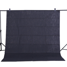 CY Hot sale Photo background cloth 1.6*3M/5*10FT Black Photography Studio Non woven Backdrop Background Screen shooting portrait