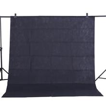 , Rok składania wniosków gorąca sprzedaż Photo tło tkaniny 1.6*3 M/5 * 10FT czarny fotografia Studio włókniny tło ekran fotografowania portret