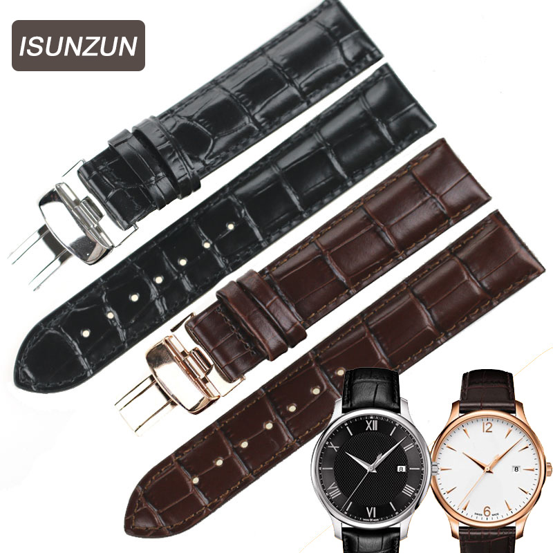 ISUNZUN Watch Bands For Tissot T063 Genuine Leather Watch Straps T063610A Watchbrands For Men And Women 18-20 MM Watchband