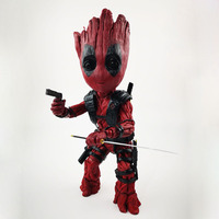 Marvel Guardians of The Galaxy Avengers Groot Tree Man Cosplay Deadpool Action Figure Model Toys