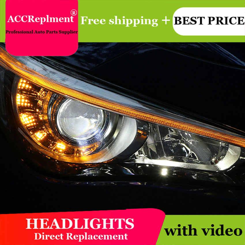 car styling For Infiniti Q50 headlights angel eyes 2015 2016