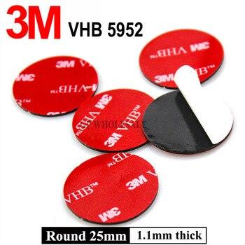 Cinta adhesiva de espuma acrílica de doble cara, cinta de montaje de alta resistencia, 25mm, 3M, VHB 5952, 5 uds.