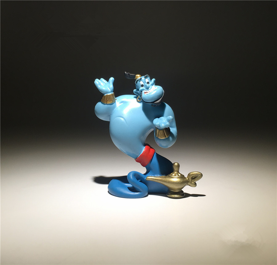 1pieces 7cm Aladdin and the magic lamp Spirit PVC Action figure mini toys Model For Children Gift