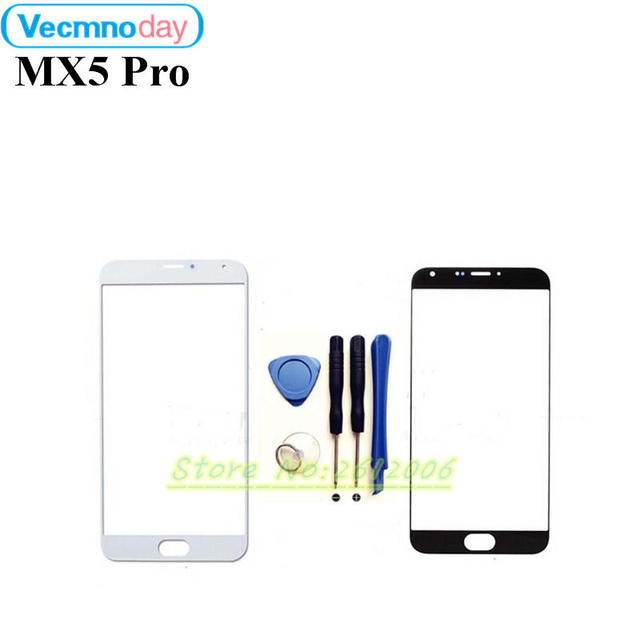 Vecmnoday High Quality Front Panel For MEIZU MX5 pro Mobile Phone Outer Screen Glass Lens Replacement Repair Part+tools