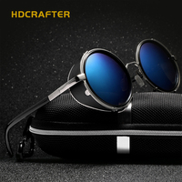 2017 Classic Gothic Steampunk Women Sunglasses Vintage Metal Coating Mirror Sunglasses Girl Round Sun Glasses Retro