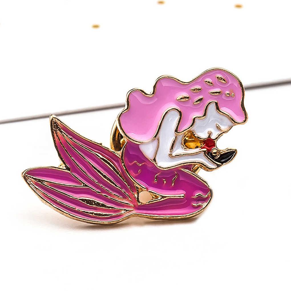 New Women 1pc Beer Sliper Shape Shirt Collar Badge Pin Cartoon Enamel Brooch Pin Gift