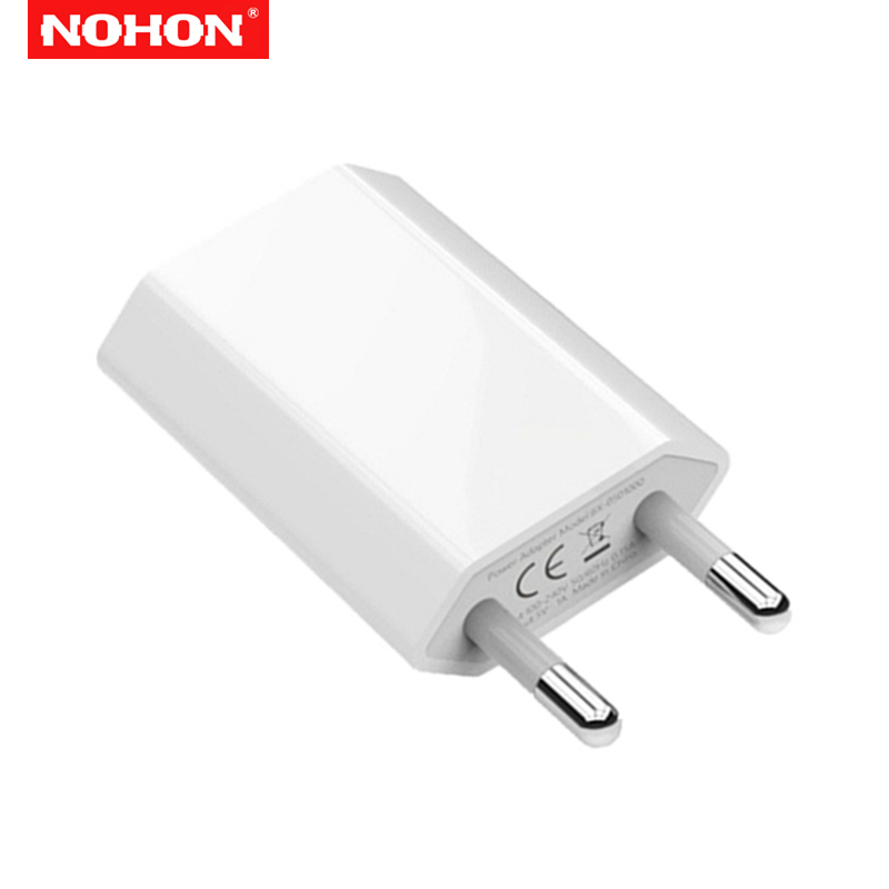 NOHON 1A EU USB Charger 1m USB Charging Cable for iPhone 6S 6 7 8 Plus X XS MAX XR 5S 5 Fast Wall Charger Adapter Data Cables in Mobile Phone Cables from Cellphones Telecommunications
