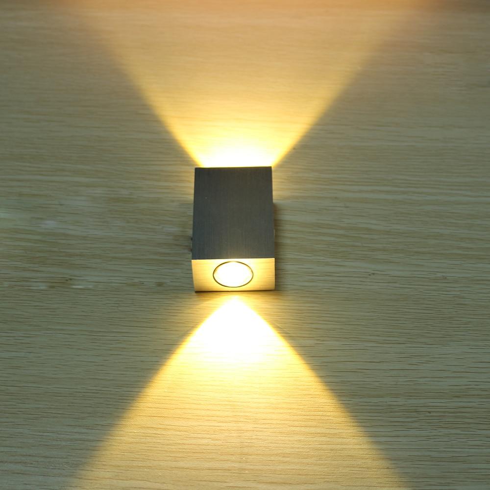 ①Tanbaby 2W led wall lamp square led spot light aluminm modern home ...