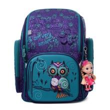 Delune 3D Cartoon Character School Bags 1-3 Grade Students Children Orthopedic School Backpacks for Girls Boys