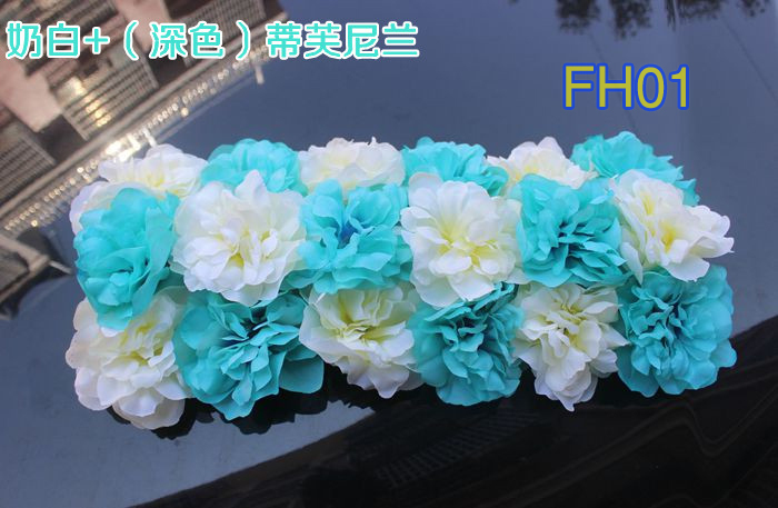 Свадебные композиция свадебные искусственные шелковые свадебные розы арки цветок Свадебные украшения цветок ряд цветок кадр 10 шт./лот - Цвет: FH01