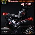 Красный + Titanium С ЧПУ Регулируемые Складные Мотоцикл Тормозные Рычаги Сцепления Для Aprilia TUONO/R 2003 2004 2005 2006 2007 2008 2009