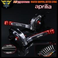 Red Titanium CNC Adjustable Folding Motorcycle Brake Clutch Levers For Aprilia TUONO R 2003 2004 2005