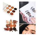 Brand Fashion 9 Earth Color Matte Pigment Glitter Eyeshadow Palette Cosmetic Makeup Nude Lady Shimmer Matte Eye Shadow palettes