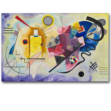 лучшая цена Wassily Kandinsky Abstract Art Canvas Painting Wall Pictures For Living Room Modern Posters Decorative Cuadros Home Decor