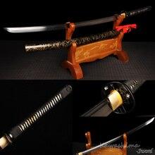 Schwarz Samurai Bereit Katana