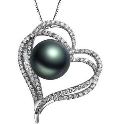 Gvbori 18k gold tahiti black pearls diamond pendant heart women fine gvbori 18k gold tahiti black pearls diamond pendant heart women fine jewelry valentine wedding jewelry in pendants from jewelry accessories on aloadofball Gallery