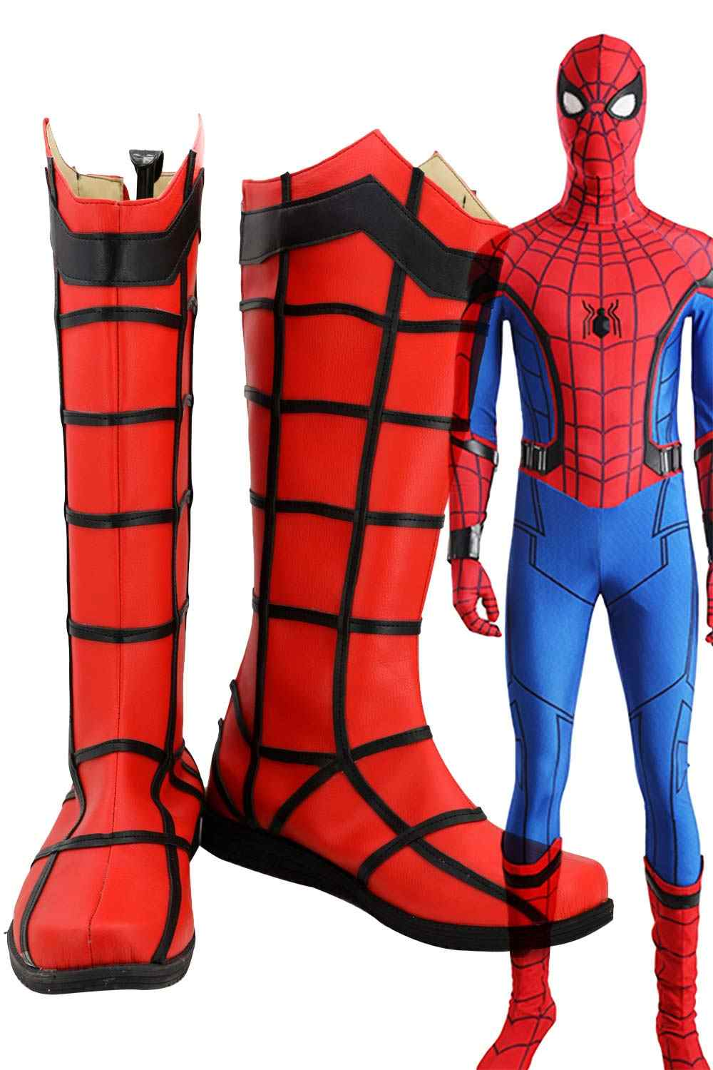 Spiderman bottes chaussures Cosplay super-héros spider-man retour Cosplay Costume Spider-Man chaussures pour adultes hommes taille européenne