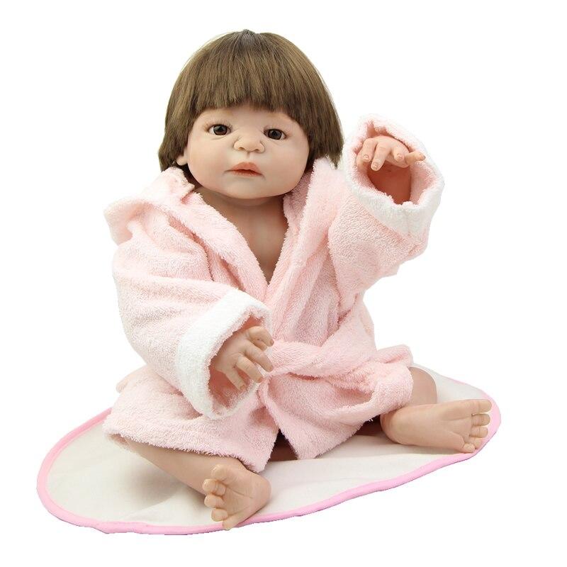 NPK Collection Lifelike Newborn Baby Dolls Full Silicone Vinyl Realistic Reborn Kids So Truly Kids Birthday Xmas New Year Gift