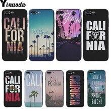 Yinuoda CALI FOR NIA Coque Shell Cover cases For iphone 6 6s 6plus 6S plus 7 7plus 8 8plus 5 5S SE X XS XR XSMAX чехол накладка для iphone 5 5s 6 6s 6plus 6s plus змеиный дизайн