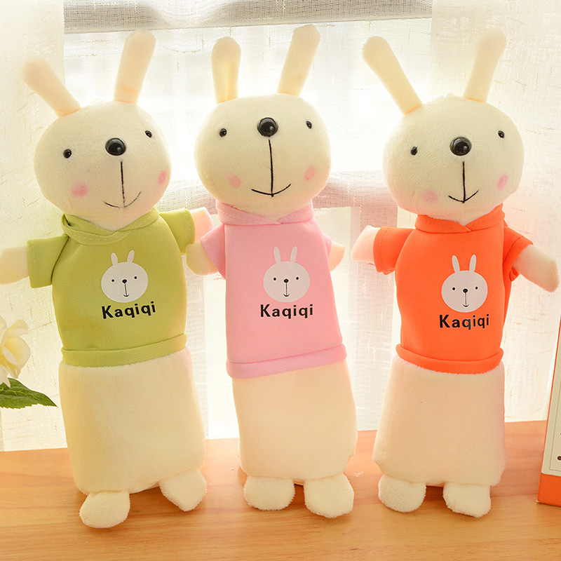 New Cute Kawaii Plush Rabbit Pencil Case Pouch Creative Lovely Cartoon Pen Bag For Kids Gift