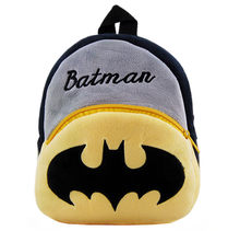 Cute Batman Baby Backpack Plush Bag Kindergarten Preschool Backpacks for Boys Children School Bags Kids Schoolbag Rucksacks(China)