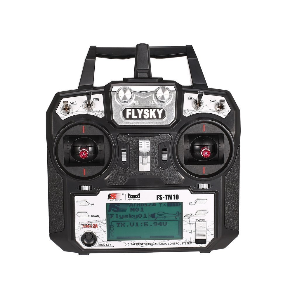 Flysky FS-TM10 FS-i6X 10CH 2.4GHz AFHDS RC Transmitter Radio Model Remote Controller System with FS-IA10B Receiver 1 set fs i6x 10ch 2 4ghz afhds 2a rc transmitter with fs ia6b fs ia10b fs x6b fs a8s receiver for remote control plane model