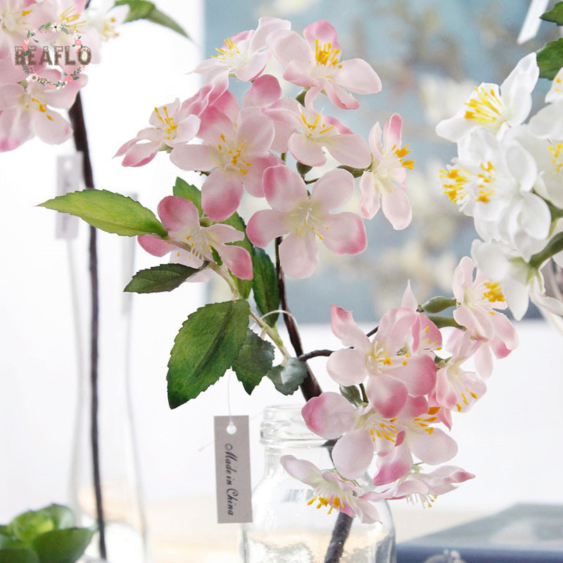 1 unid vivid seda flor de cerezo flores artificiales para el banquete de boda decoración del hogar 33 cm 4 colores