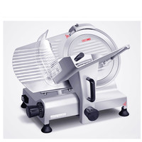 220V Commercial Electric Meat Slicer Beef Frozen Meat Cutting Machine Semi Automatic 12 Inch Mutton Roll