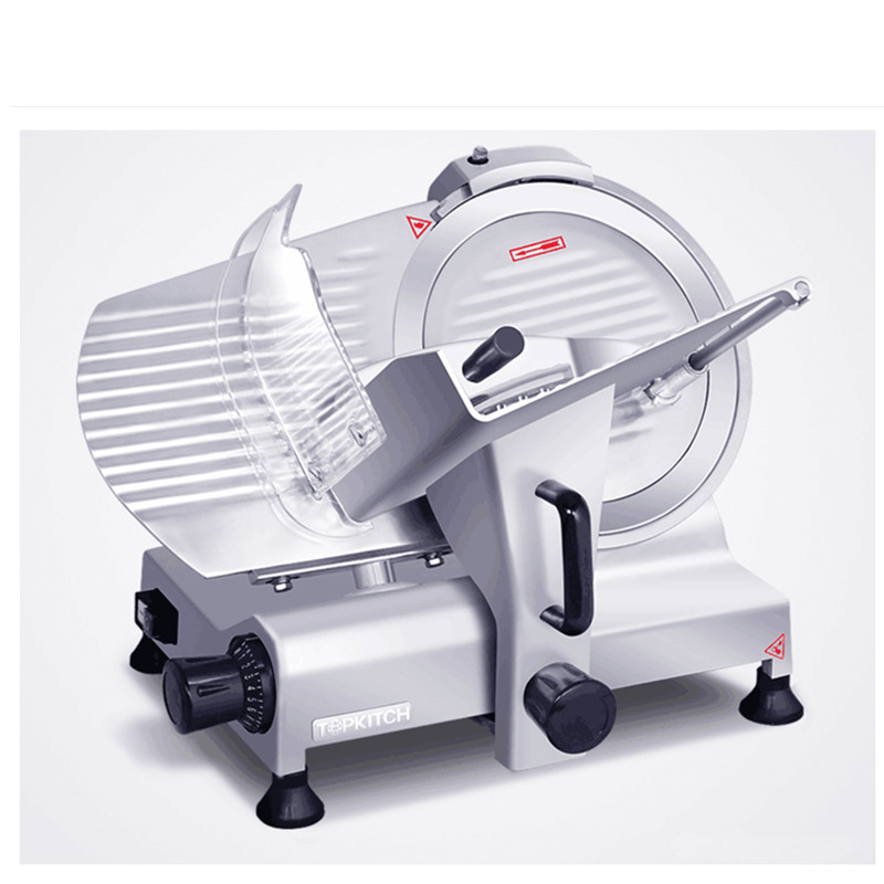 220V Commercial Electric Meat Slicer Beef Frozen Meat Cutting Machine Semi-automatic 12 Inch Mutton Roll Machine EU/AU/UK Plug