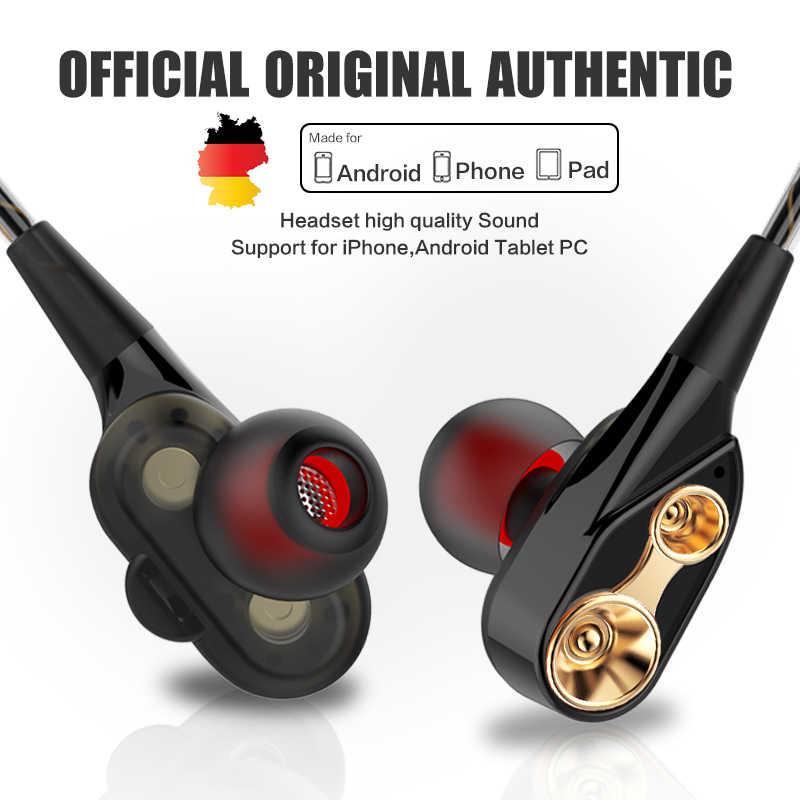 6612fc42b53 Original QKZ 3.5 mm headset Dual Driver Earphone Stereo Bass HIFI wired  earbuds for xiaomi PK
