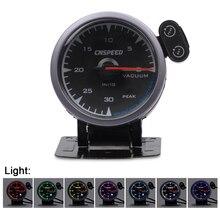CNSPEED Shark style 7 Colors 12V Car Vacuum Pressure Gauge Meter For Honda Golf 2 mk2 Auto POD Universal