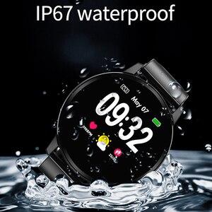 Image 3 - חכם צמיד ליגע IP67 עמיד למים כושר שעון Bluetooth חיבור אנדרואיד Ios לחץ דם צג מד צעדים צמיד