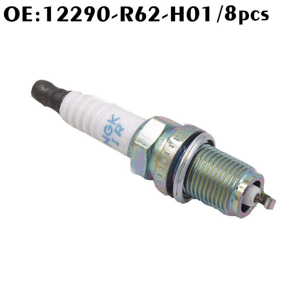 8PCS 12290-R62-H01 12290R62H01 High Performance IRIDIUM Car Spark Plug Iridium Spark Plug For Honda 2.0