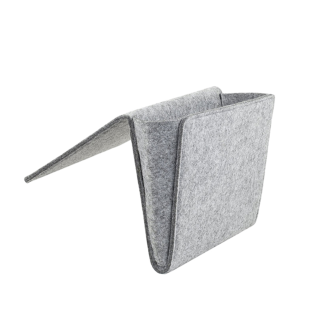 Felt Multifunctional Bedside <font><b>sofa</b></font> Hanging Holder Storage Organizer Box Magazine Smartphone <font><b>Remote</b></font> Control Storage Bag <font><b>Pockets</b></font> image
