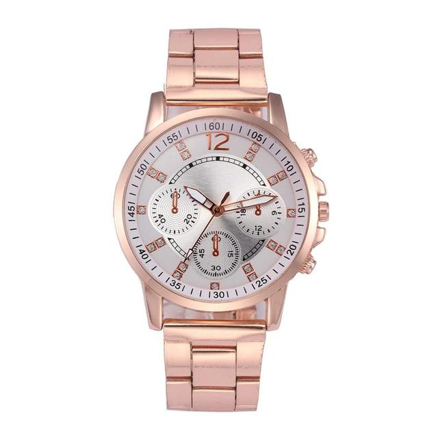 Fashion Women Crystal Stainless Steel Analog Quartz Wrist Watch Bracelet female