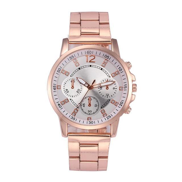 Reloj de pulsera de cuarzo analógico de acero inoxidable de cristal de mujer de moda relojes de pulsera de marca superior de lujo bayan saat