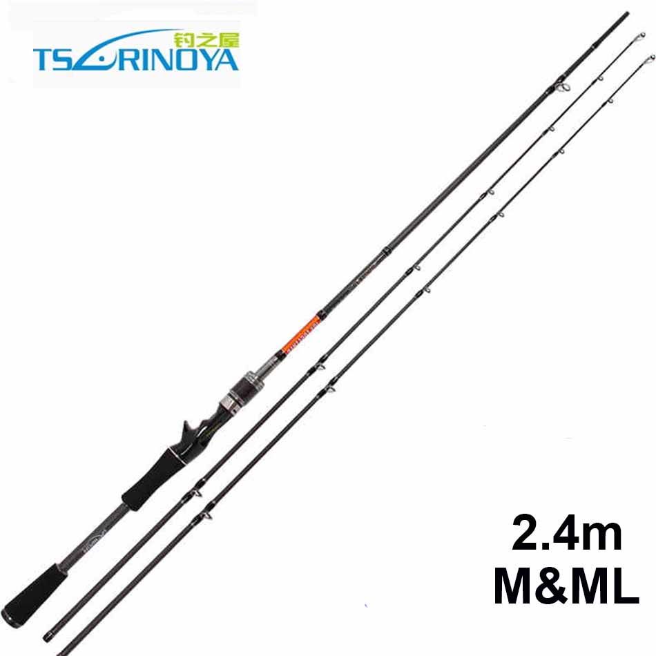 Free Shipping Trulinoya 2.4m M & ML Tips Baitcasting Rod 2 Section Carbon Fishing Rods China goture 2 1 2 4m baitcasting fishing rod carbon fiber medium fast action 2 section lure fishing rods