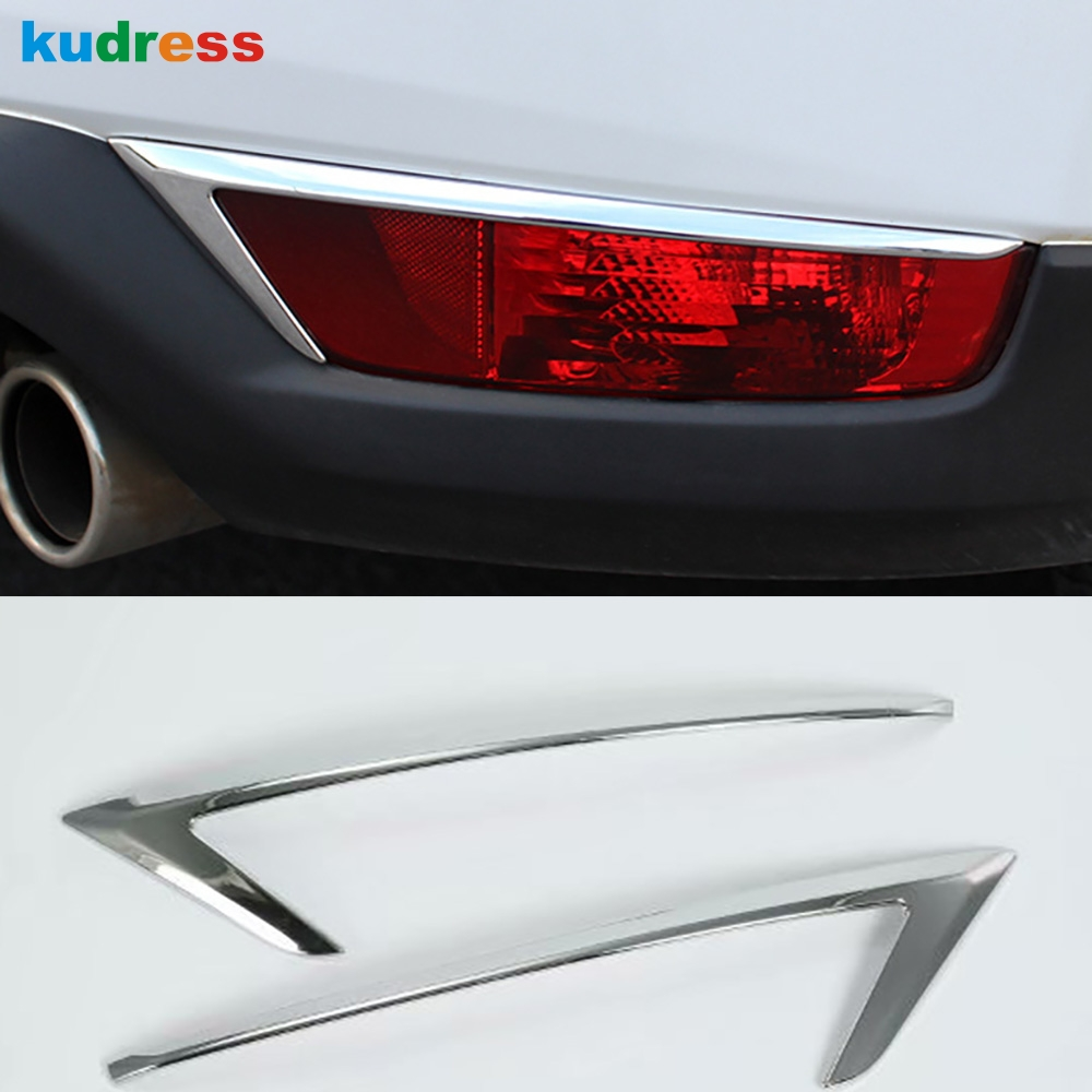 For <font><b>Mazda</b></font> CX-5 <font><b>CX5</b></font> KF 2017 2018 <font><b>2019</b></font> ABS Chrome Rear Reflector Fog Light Lamp Cover Sticker Decoration Trim <font><b>Accessories</b></font> 2pcs image