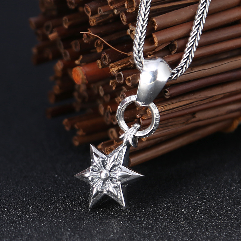 Asg Cluci Cage Pendants South Korea Fashion Six-pointed Star Pendant Personality Thai Drop Restoring Ancient Ways Men And Women Asg Cluci Cage Pendants South Korea Fashion Six-pointed Star Pendant Personality Thai Drop Restoring Ancient Ways Men And Women