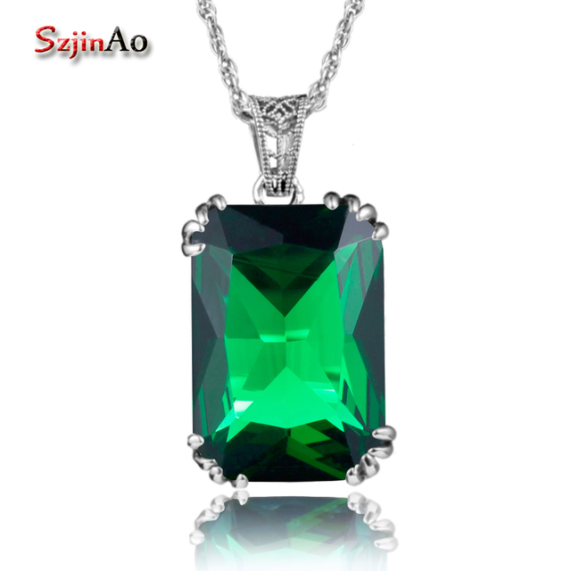 Szjinao charms steven universe solid 925 sterling silver pendant szjinao charms steven universe solid 925 sterling silver pendant necklaces green stone crystal for women wedding aloadofball Image collections
