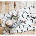 2016 INS Cobrindo Cobertor de Algodão Bonito Do Bebê Padrão Legal Do Tigre Tapete Decoração Do Quarto Do Bebê Recém-nascido Do Bebê Cobertor 113*68 cm