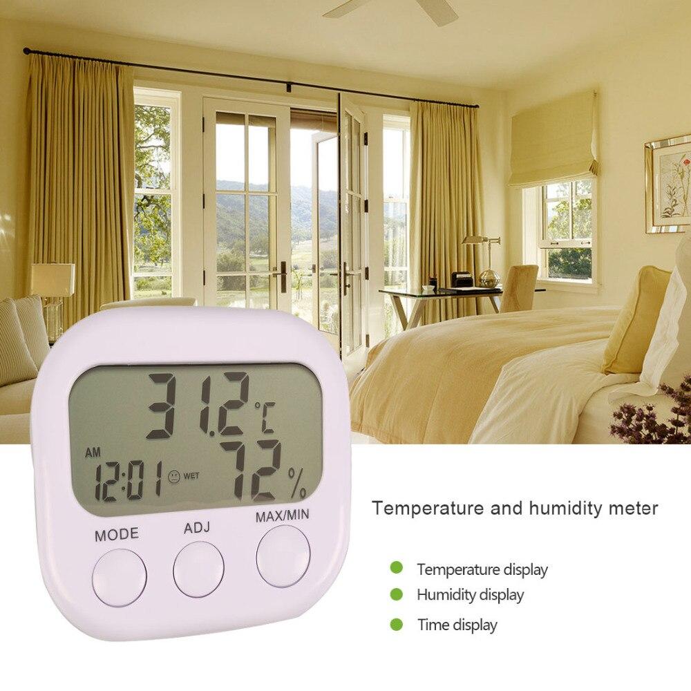 Nouvelle Station Météo LCD Numérique Thermomètre Hygromètre Température Hygromètre Gauge Avec Horloge
